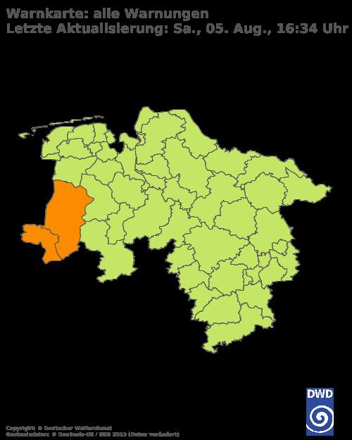 Aktuelle Wetterwarnungen für Vechta