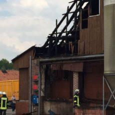 Brand eines Schweinestalls in Neuenkirchen / 19.05.16