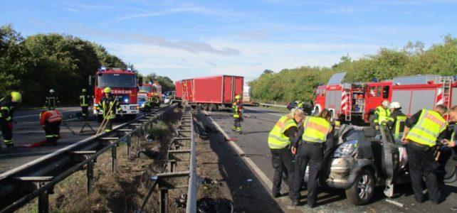 schwerer Verkehrsunfall A1 / 26.09.2018
