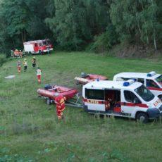 Übung von Feuerwehr und DLRG am Kalksandsteinsee / 01.09.2020